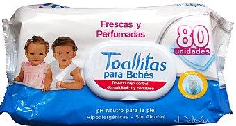 Deliplus Toallitas humedas bebe Paquete 80 u