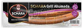 Michael Schara Grill Ahumada salchichas cocidas y ahumadas de cerdo sabor rústico sin gluten sin lactosa Envase 170 g