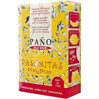 Paño Naturae Palomitas ecologicas con sal del himalaya Pack de 3x100 g