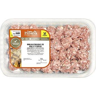 CASA DE PENALVA Mini albóndigas de pollo y cerdo peso aproximado Bandeja 370 g