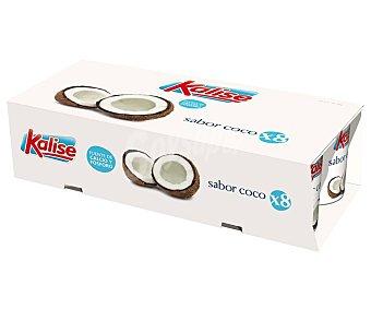 Kalise Yogur sin conservantes, con sabor a coco 8 x 125 gr