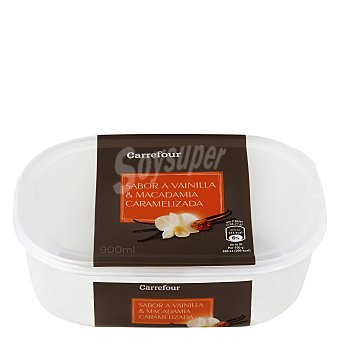 Carrefour Helado de Vainilla y Nueces de macadamia 900 ml