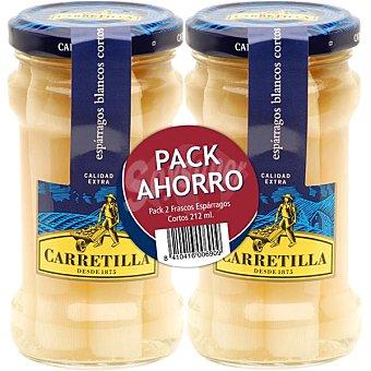 Carretilla Espárragos blancos neto escurrido Pack 2 frasco 110 g