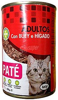 Lucy Comida gato adultos paté buey hígado Bote 400 g