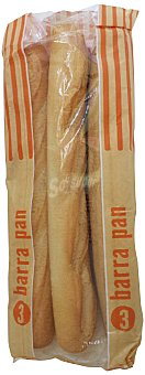 Mercadona Pan barra normal Pack de 3 unidades (750 g)