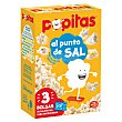 Palomitas maíz sabor natural con sal para microondas de Borges Paquete 100 gr pack 3 Popitas Borges