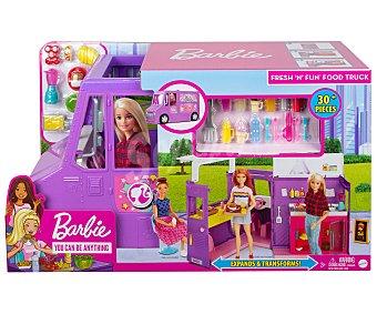 Barbie Muñeca Y su camioneta de comida fresh and fun con 25 accesorios, barbie.