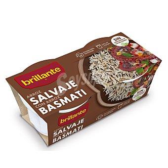 Brillante Arroz salvaje con arroz basmati brilante Vasito 250 gr