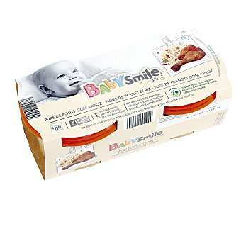 Baby Smile Pollo con arroz tarrito 2 x200 gr