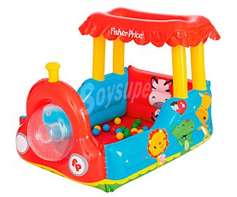 Fisher-Price Colchoneta inflable infantil con forma de tren, incluye pelotas, PRICE.