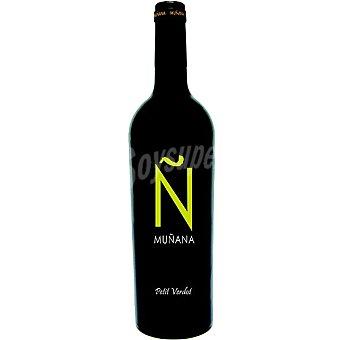 MUÑANA Vino tinto petit verdot de Andalucía botella 75 cl
