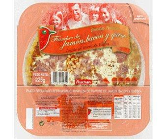 Auchan Pizza Mini jamón/bacón/queso 225g