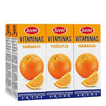 Juver Zumo de naranja Vitaminas Pack 6x200 ml
