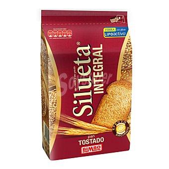 Silueta Bimbo Pan tostado integral con fibra lipoactiva Pack de 30x9 g