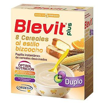 Blevit Papilla instantánea de 8 cereales al estilo bizcocho desde los 5 meses  Caja 600 g