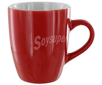 GSMD Mug o taza alta con asa modelo Ikas, con capacidad de 350 mililitros y fabricada en porcelana de color rojo 1 Unidad