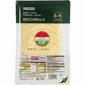 Eroski Queso Mozzarella Bandeja 200 g
