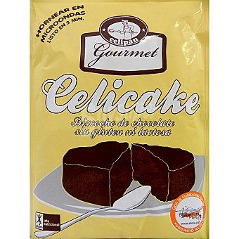 CELIPAN GOURMET CELICAKE Bizcocho de chocolate sin gluten ni lactosa para hornear en microondas en 3 minutos Envase 100 g