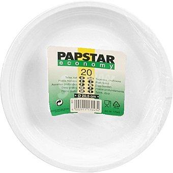 PAP STAR plato hondo Economy paquete 20 unidades