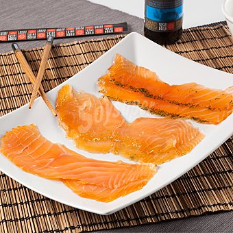 Surtido salmón ahumado lonchas 120.0 g. aprox