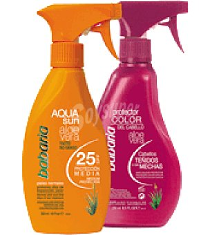 Babaria Aqua bronce no graso aloe f25 300ml+prote.color 250ml 1 ud