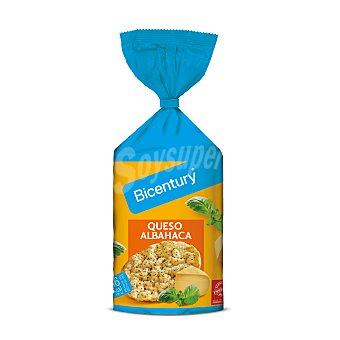 Bicentury Tortitas de maíz sabor queso y albahaca 123,5 g