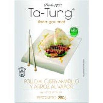 Ta Tung Pollo al curry con fideos Bandeja 350 g