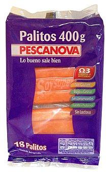 PESCANOVA SURIMI FRESCO TRONQUITO DE MAR PAQUETE 400 g