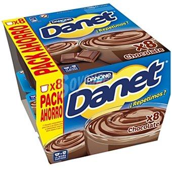 Danone Danet Natillas de chocolate 8 unidades de 125 g