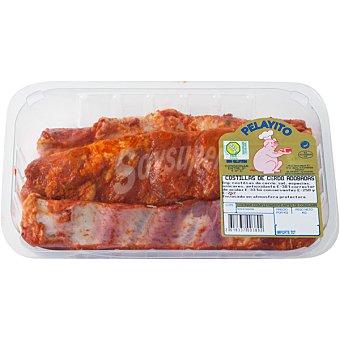 PELAYITO Costillas adobadas de cerdo en tiras peso aproximado Bandeja 500 g