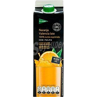 El Corte Inglés zumo de naranja exprimida con pulpa envase 1 l