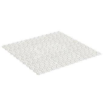 Tatay Alfombra baño en PVC en color blanco 54 x 54 cm