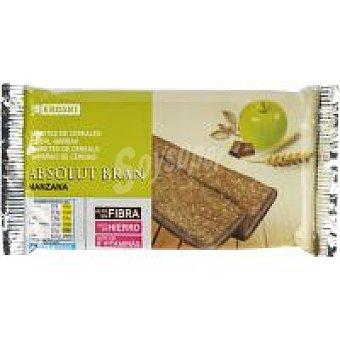 Eroski Barritas bran con manzana Paquete 240 g