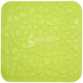TOYMA Piedras Alfombra baño de caucho en color verde pistacho 53 x 53 cm