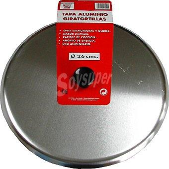 TECNHOGAR Tapa de aluminio giratortillas de 26 cm 1 Unidad