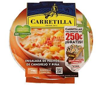 Carretilla Ensaladas Pic Nic de palitos de cangrejo y piña bol 240 g