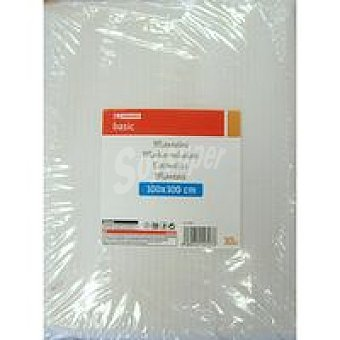 Eroski Basic Mantel blanco 100x100 Pack 10 unidades
