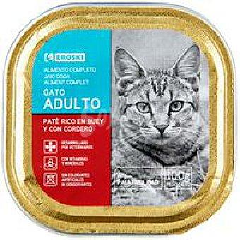Eroski Comida para Gato Paté Buey 100g