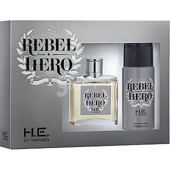 MANGO Rebel Hero eau de toilette natural masculina + desodorante spray 150 ml Spray 100 ml