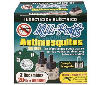 Kill-Paff Insecticida eléctrico líquido antimosquitos 2 recambios.