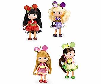 DISNEY Muñecas I Love Minnie con Vestidos de Flores 1 Unidad