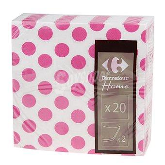 Carrefour Servilletas 33x33 cm 2 capas topos rosas 20 ud