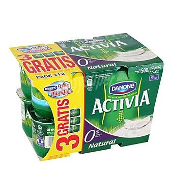 Activia Danone Yogur 0% natural Pack de 12x125 g