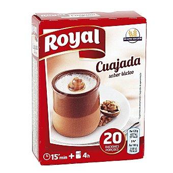 Royal Cuajada azucarada para preparar 5 sobres Estuche 60 grs