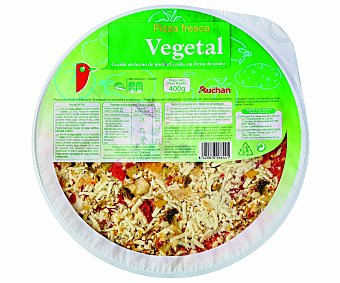 Auchan Pizza Vegetal 400 Gramos