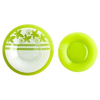 LUMINARC Seasons Vajilla de vidrio 18 piezas para 6 servicios en color verde