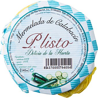 P. listo Mermelada de calabacín Frasco 150 g