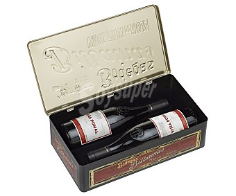 VIÑA POMAL Estuche metálico con 2 botellas de vino reserva con denominación de origen Rioja 75 centilitros