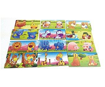 Auchan Puzzle infantil animales Rik&Rok  1 unidad