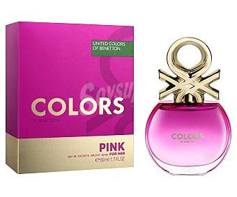 Benetton Colonia para mujer colors pink Vaporizador 50 ml